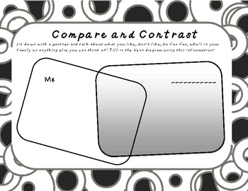 Compare and Contrast you and me!