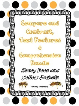 Compare and Contrast/Comprehension/Text Features Informational Text Bundle