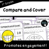 Compare and Cover-Place Value Activity (First Grade, 1.NBT.3)