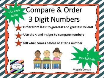 Compare and Order 3 Digit Numbers