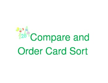 Compare and Order Decimal Card Sort