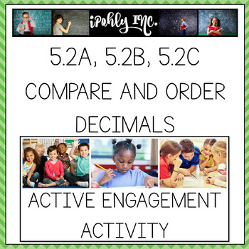 Compare and Order Decimals 5th Grade Math TEKS 5.2A, 5.2B, 5.2C
