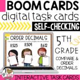 Compare and Order Decimals Boom Cards