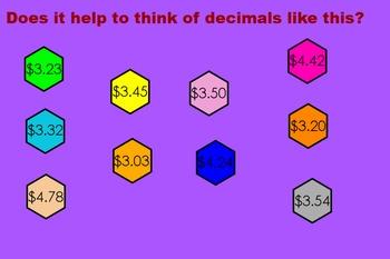 Compare and Order Decimals Flipchart