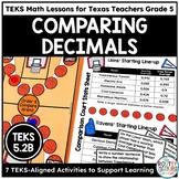 Compare and Order Decimals Grade 5- TEKS Math Activities & Printables