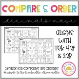 Compare and Order Decimals Maze 4.2F 5.2B
