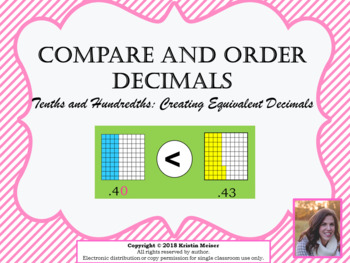 Compare and Order Decimals PowerPoint Lesson