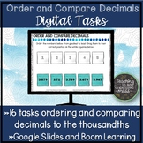 Compare and Order Decimals to the Thousandths Google Slide
