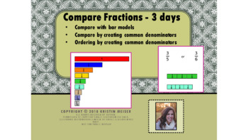 Compare and Order Fractions PowerPoint - 3 day lesson