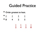 Compare and Order Fractions Review PPT