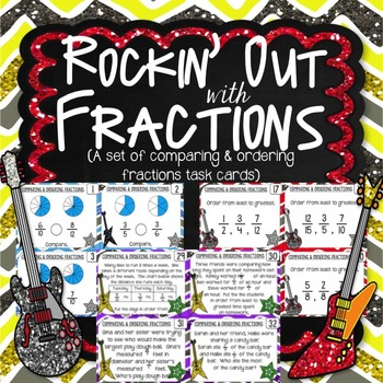 Compare and Order Fractions Task Cards & Game