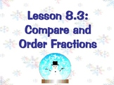 Compare and Order Fractions Winter  Power Point