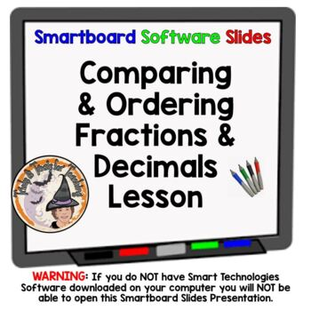 Comparing and Ordering Fractions and Decimals Compare Orde