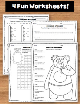 Compare and Order Integers Worksheets