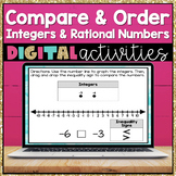 Compare and Order Integers and Rational Numbers Digital Activities 6.NS.7