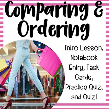 Compare and Order Activities 3.2D