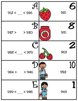 Compare and Order Matching Activity (TEKS 2.2D)