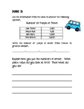 Compare and Order Numbers Activity Set