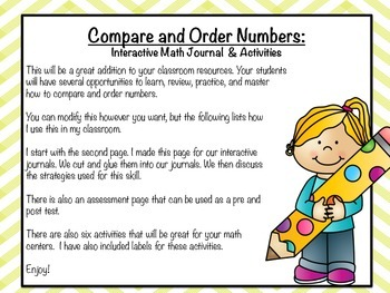 Compare and Order Numbers Activity and Assessment Pack
