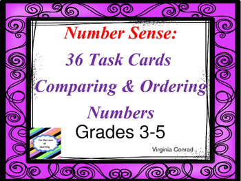 Compare and Order Numbers--Number Sense Task Cards