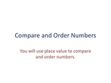 Compare and Order Numbers Strategy