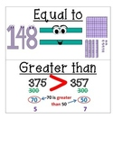 Compare and Order Numbers Vocabulary Cards **TEKS Aligned**