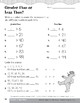 Compare and Order Numbers to 100 Using Symbols