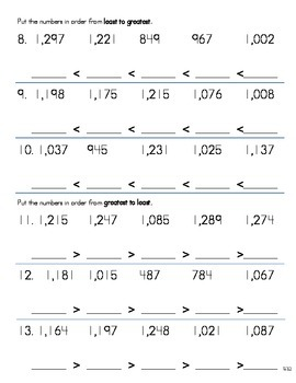 Compare and Order Numbers to the Thousands 2
