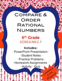 Compare and Order Rational Numbers Lesson Pack