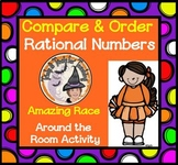Compare and Order Rational Numbers Amazing Race Activity Around Room Game