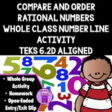 Compare and Order Rational Numbers Whole Class Activity with Sentence Stems 6.2D