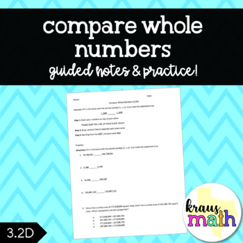 Compare and Order Whole Numbers: Guided Practice (3.2D)