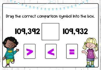 Compare and Order Whole Numbers Boom Cards