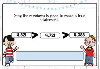 Compare and Order Whole Numbers Digital Boom Cards