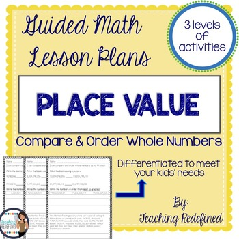 Compare and Order Whole Numbers Lesson BUNDLE