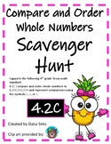Compare and Order Whole Numbers Scavenger Hunt (TEKS 4.2C)