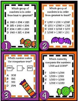 Compare and Order Whole Numbers Up to 1,200 (TEKS 2.2D)