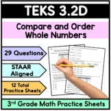 Compare and Order and Numbers- TEKS 3.2D