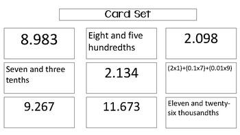 Compare and Ordering Decimals