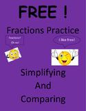 Free Fractions Practice