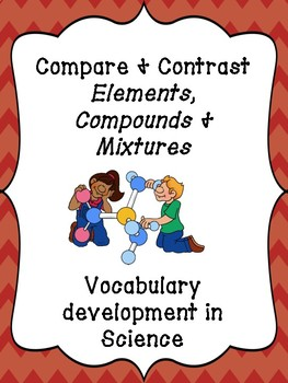Compare and contrast ELEMENTS, COMPOUNDS AND MIXTURES - WORKSHEET FRAYER MODEL