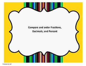 Compare and order fractions, decimals, and percent
