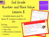 Compare numbers to 1000 lesson pack (2nd Grade Number and