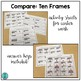 Compare!  ten frames game for math centers