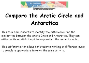 Compare the Arctic Circle and Antarctica