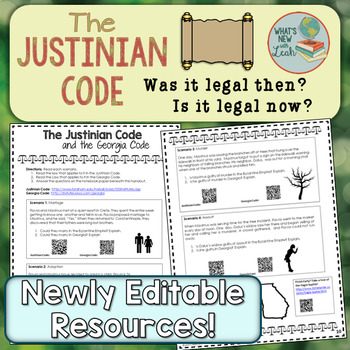 Compare the Justinian Code to Your Law Code