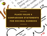 Place Value & Comparison Statements for Decimal Numbers (Answers Included)
