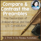 Compare the Preambles: 2 Print 'n Go Review Activities