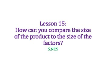 Compare the Size of the Product to the Factors PowerPoint