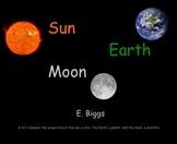 Compare the Sun, Earth, and Moon - Smartboard